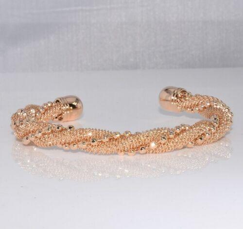 SALE 9ct 9K Gold Filled Women Opened Bangle Bracelet Birthday Evening Gift 3367