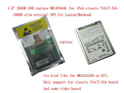 256GB SSD for iPod Classic 7th gen 160GB  replacement for MK1634GAL// MK2431GAL