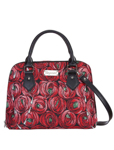 CONVERTIBLE MACKINTOSH ROSE /& TEAR DROP TAPESTRY WOMEN/'S FASHION SHOULDER BAG
