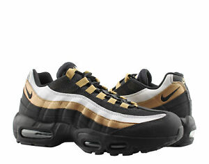 9fa9f986aa Nike Air Max 95 OG Black/Black-Metallic Gold Men's Running Shoes ...