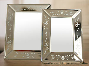 Venetian-Photo-Frames-Glass-Etched-Edge-Picture-Frame-4x6-amp-5x7-BRAND-NEW