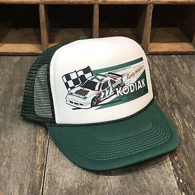 Kodiak Racing Team Vintage 80 S Trucker Hat Nascar Rusty Wallace Cap Dark Green Ebay
