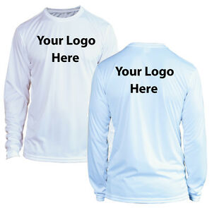 cb9f616d4 Image is loading Custom-Printed-Microfiber-Performance-Long-Sleeve-UPF-50-