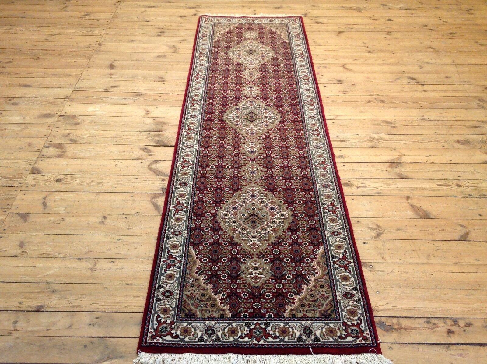 Meraviglioso tappeto orientale SUPER TÄBRIZ MAHI 302 x 80 cm condizioni TOP NUOVO