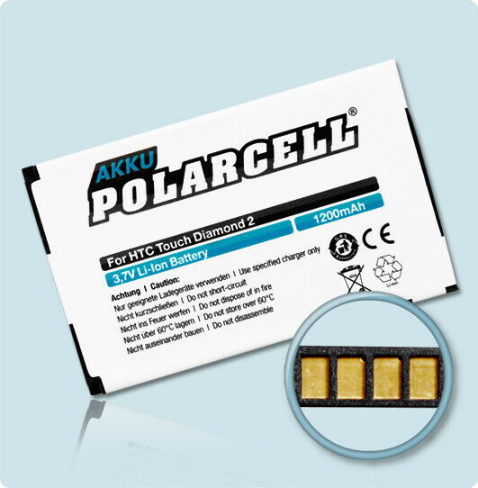 PolarCell Replacement Battery for HTC Touch Diamond 2 II T5353 Touch 2 T3333