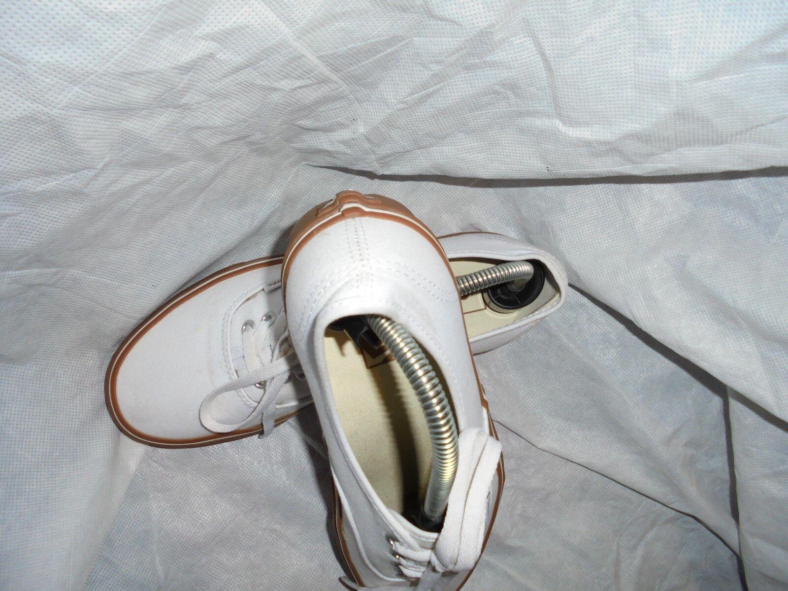 Vans Unisex Blanco Cuero Con Cordones nos Zapatillas Size nos Cordones 8 en muy buena condición 797459