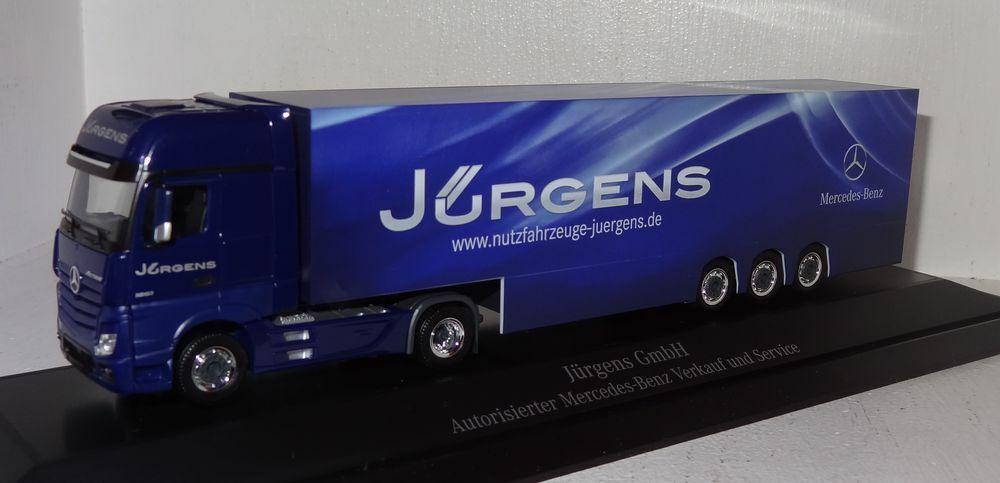 Sb59 Herpa MB Actros SZ veicoli commerciali Jurgens GmbH Hagen PC + OVP 1 87