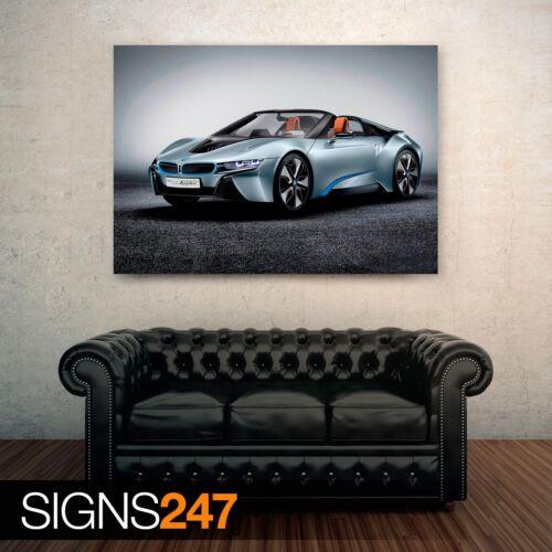 Voiture Poster-Photo Poster print ART A0 A1 A2 A3 A4 BMW I8 Spyder 0219