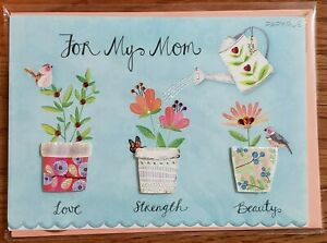 Papyrus-Mother-039-s-Day-flowers-bird-greeting-card-New-in-packaging