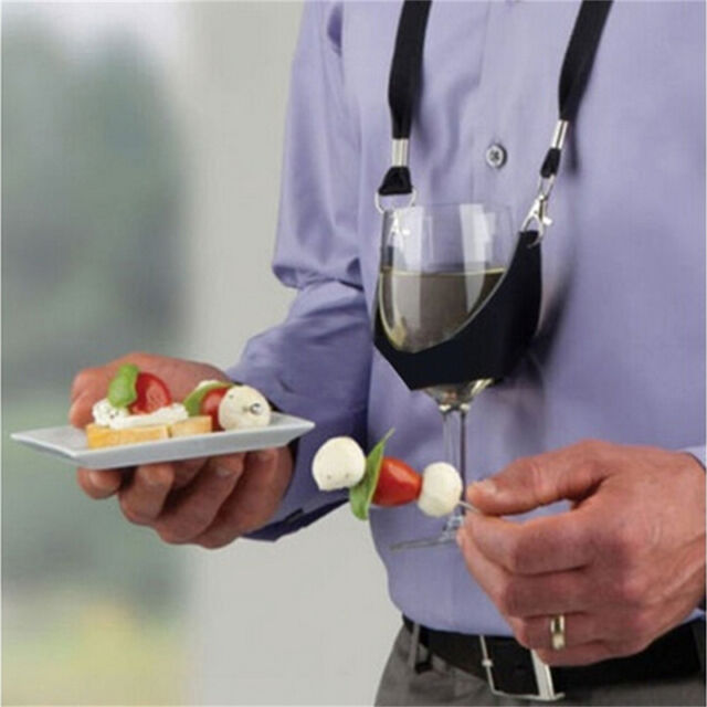 Portable Wine Sling Yoke Glass Holder Support Strap for Birthday Party Gift Ln