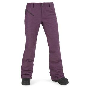 2018-NWT-WOMENS-VOLCOM-PINTO-SNOW-PANTS-winter-orchid-modern-slim-fit