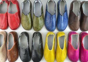 340b300f3c0da Details about MOROCCAN LEATHER BABOUCHE MENS WOMENS SLIPPERS SHOES MULES  LOAFERS *HANDMADE*