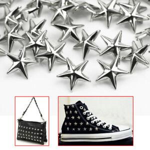 15 Mm Star Nail Head Punk Rivets-cuir Sac à Chaussures Goth Pointes Craft Argent Bronze-afficher Le Titre D'origine