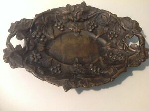 """Vintage Oval reticulated solid brass dish, made in Italy """"GORGEOUS """""""
