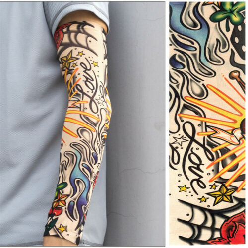 1PC Sleeve Sun UV Protection Tattoo Arm Cover Cycling Driving Costume Headband