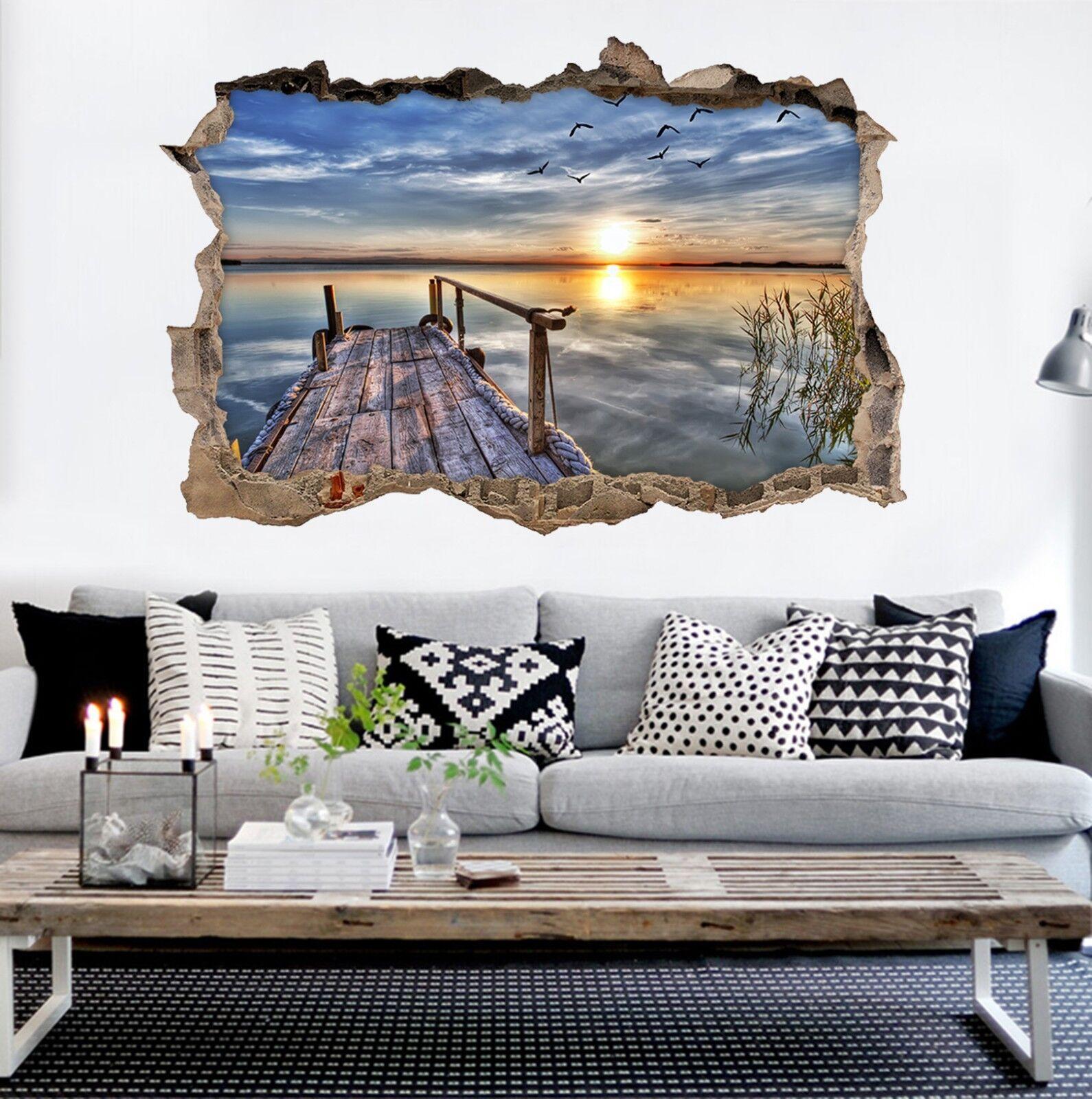 3D Stilles Meer 330 Mauer Murals Mauer Aufklebe Decal Durchbruch AJ WALLPAPER DE
