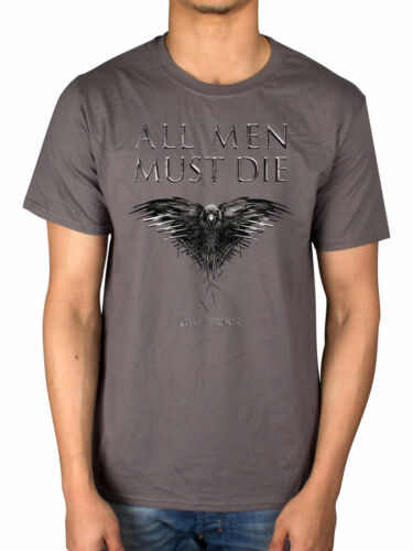 Official New Game Of Thrones All Men Must Die T-Shirt TV Merch HBO Tyrion Cersei