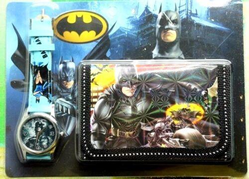 Batman Children's/ Kid's Watch & Wallet Gift Set For Boys Girls Christmas Gift