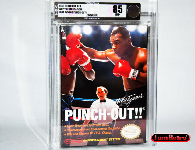 Mike Tyson's Punch-Out!! Nintendo NES New Factory Sealed VGA 85 MINT SNES