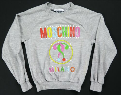 Rare Vintage MOSCHINO Couture Milano Spell Out Swe