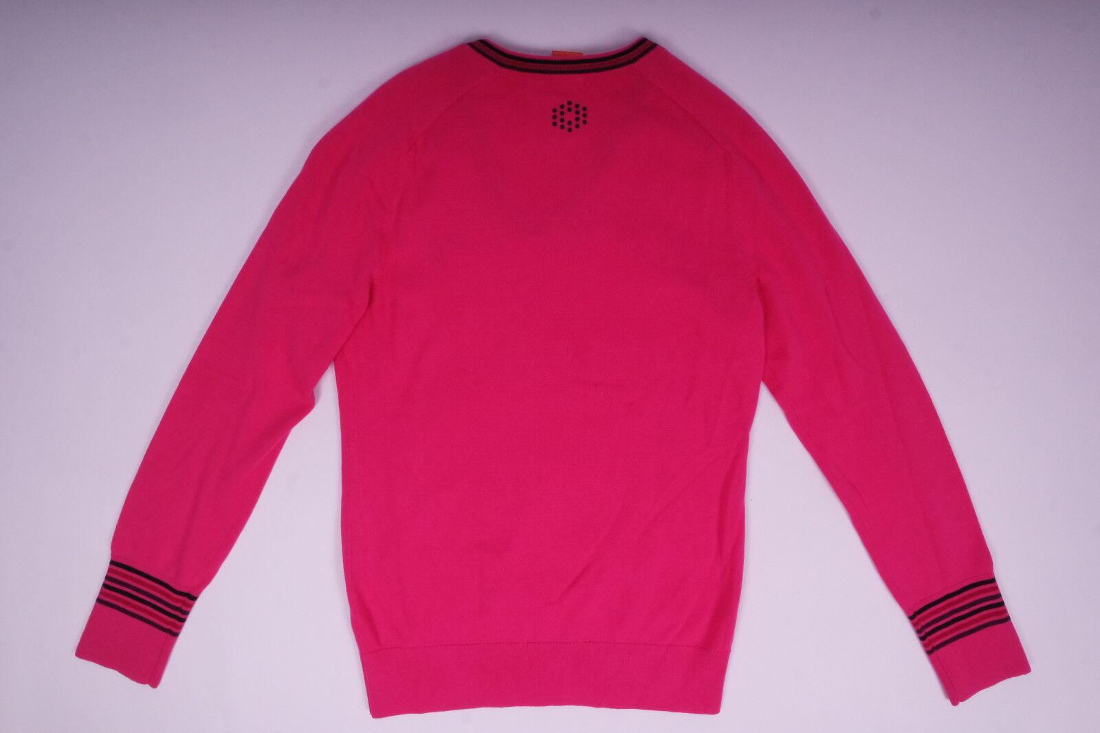 puma damen v neck pullover sweatshirt langarm rosa gr e s. Black Bedroom Furniture Sets. Home Design Ideas
