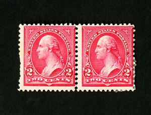 US-Stamps-266-Fresh-OG-LH-NH-Pair-Type-2-amp-3-Catalog-Value-220-00