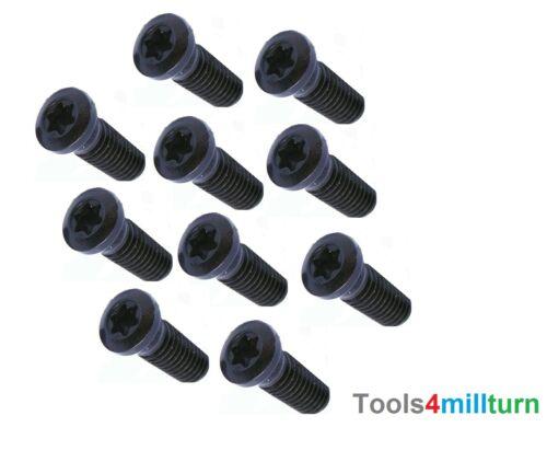 Torx Schrauben M3,5 x 8mm TX15 für Wendeplattenhalter 10 Stück Neu