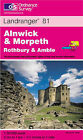 Alnwick and Morpeth, Rothbury and Amble by Ordnance Survey (Sheet map, folded, 2000)