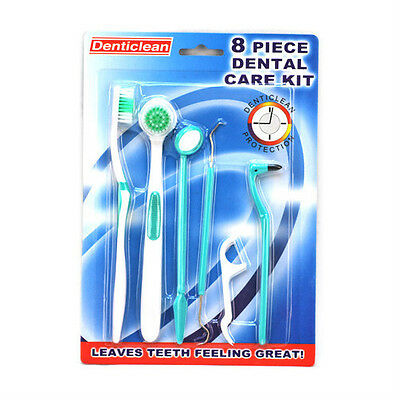 8 in1 Oral Care Dental Care Interdental Floss Tooth Pick Brush Kit Cleaning Tool