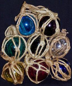 "5/"" Fish Net Buoys Glass Ball Floats~Nautical Beach Coastal Seashore Decor Each"