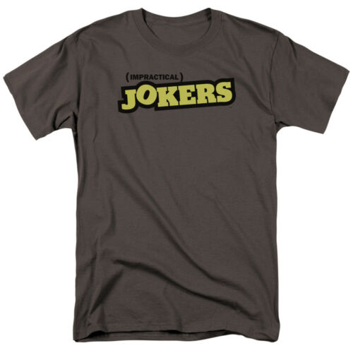 IMPRACTICAL JOKERS TV Show LOGO Gray Licensed Adult T-Shirt All Sizes