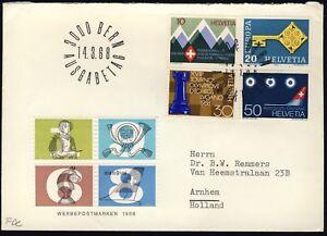 SUISSE-SWITZERLAND-SCHWEIZ-1968-Mi-870-3-034-Special-Issues-034-set-on-FDC
