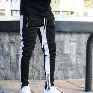 Pantalones Agosto Deportivos Para Hombre Ropa De Gimnasio Chandal De Moda Casual Ebay