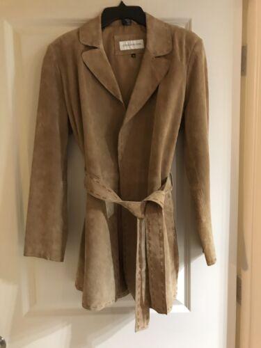 New en véritable Long cuir Jones Med Taille manteau York XAqxB4wnZ