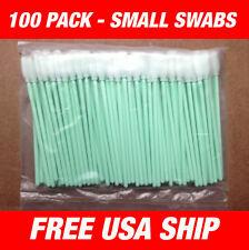 USA - 100 pcs Small Foam Cleaning swabs - Roland Soljet, Cammjet -USA Ship!