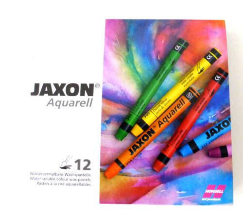 Jaxon Aquarell Wasservermalbare Wachspastelle 12 Stück