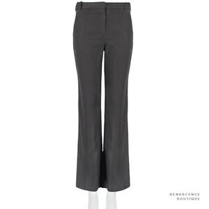 Stella-McCartney-Dark-Charcoal-Grey-Cropped-Boot-Cut-Trousers-Pants-IT42-UK10