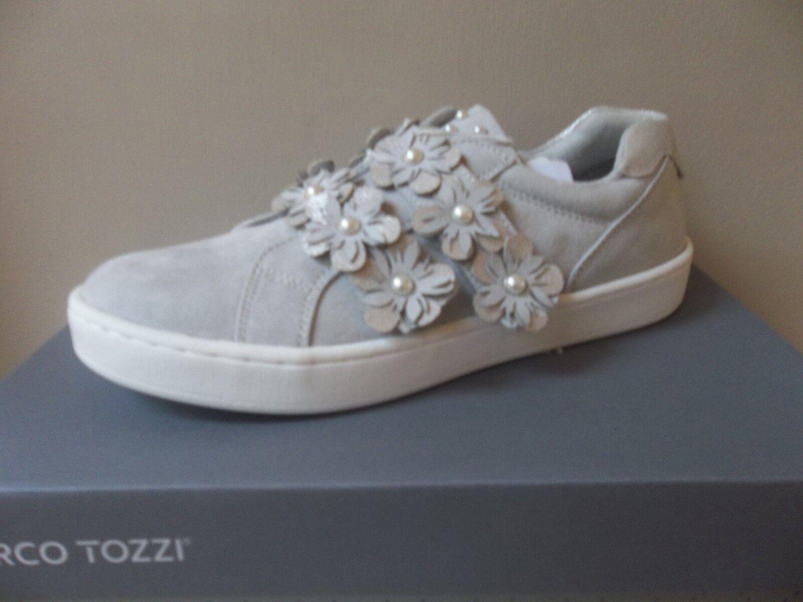 Marco Tozzi gris suede embellished trainer style flats, UK 6 EU 39,  BNWB
