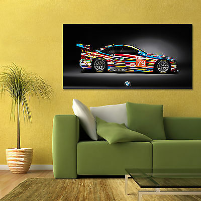 ART CAR BMW M3 GT2 3 SERIES LARGE SIDE AUTOMOTIVE HIGH DEFINITION POSTER 24x48in