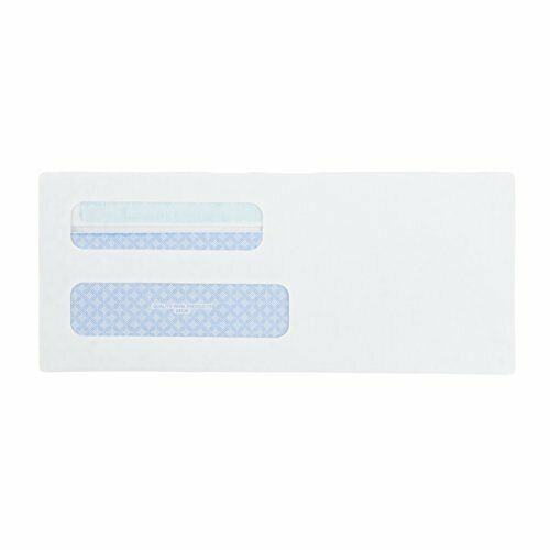 Quality Park #8 24539 Double Window Security Tinted Check Envelopes Redi Seal for sale online