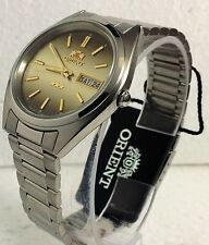 New Orient Automatic Japan Men Silver Watch FAB00007U W  / Box