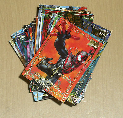 Losse niet-sportkaarten Verzamelkaarten, ruilkaarten 2016 Marvel Masterpieces Jusko 81-card base gold signature parallel set 1-81
