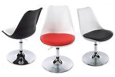 Sedia bianca nera rossa design tulip Saarinen eco pelle elevazione gas girevole