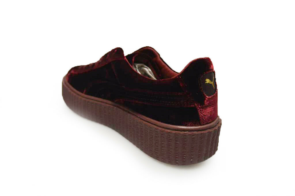Damenschuhe Puma Creeper Velvet Burgandy - By Rihanna - 36446602 - Burgandy Royal Purple Trainer 6b11d5