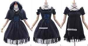 Jl Costume Gothique Chemisier Lolita Robe 578 Noir Cape Mousseline Cosplay 0WYqF0TAr