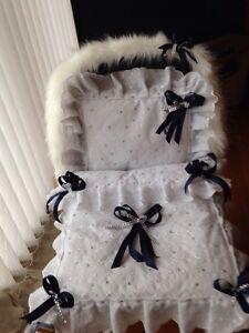 DOLLS PRAM QUILT SET FOR vintage SILVER CROSS COACH BUILT + FUR ... : dolls pram quilt sets - Adamdwight.com