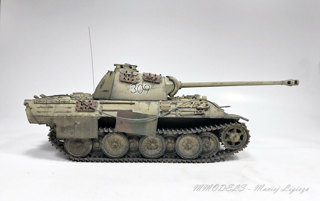 PzKpfw V Panther A tank scale 1 35 built and painted - MModels
