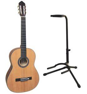 Lerninstrument GitarrenstÄnder Durch Wissenschaftlichen Prozess Decke Fichte Massiv 4/4 Konzertgitarre Hg79