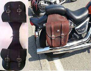 Sportster poche latérale brun sporty ailes sac sacoche de selle 1200 883 48 Nouveau