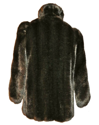 Faux Plush Euc og føles Faux xl Real Looks M 43 Jacket Varm Feels Plush M Real Euc xl Brown Luksuriøs Fur Warm Ser 43 Jacket Fur Luxurious Brun qZUt0wS